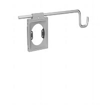 Accessory Holder With Universal Accessory Bracket, Silver