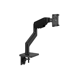 M10 Clamp Mount with Black Trim, Angled/Dynamic Links, Standard Tilt with black VESA cover