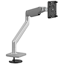 M2.1 Monitor Arm with Bolt-Thru Mount, Silver with Grey Trim