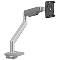 M2.1 Monitor Arm with 25mm Sliding Desk Clamp Mount, Silver with Grey Trim