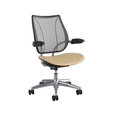 <p><span>Frame:</span> Polished Aluminum With Black Trim</p><p>Adjustable Duron Arms</p>  <p><span>Backrest:</span> Pinstripe/Silver</p>  <p><span>Seat:</span> Ticino (Chrome-Free Leather)/Sand-Vanilla</p>