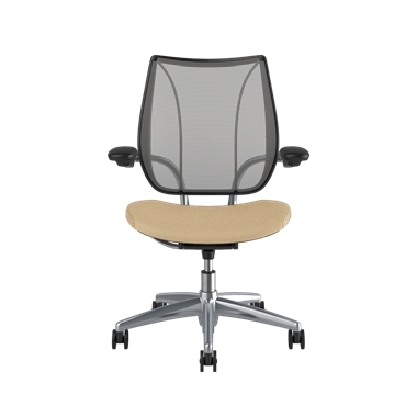 <p><span>Frame:</span> Polished Aluminum With Black Trim</p><p>Adjustable Duron Arms</p>  <p><span>Backrest:</span> Pinstripe/Silver</p>  <p><span>Seat:</span> Ticino (Chrome-Free Leather)/Sand-Vanilla</p> Picture 2