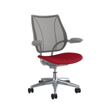 <p><span>Frame:</span> Polished Aluminum With Silver Trim</p><p>Adjustable Duron Arms</p>  <p><span>Backrest:</span> Pinstripe/Graphite</p>  <p><span>Seat:</span> Oxygen/Liberty</p>