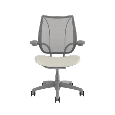 <p><span>Frame:</span> Silver With Silver Trim</p><p>Adjustable Duron Arms</p>  <p><span>Backrest:</span> Pinstripe/Silver</p>  <p><span>Seat:</span> Ticino (Chrome-Free Leather)/Glacier-White</p> Picture 2