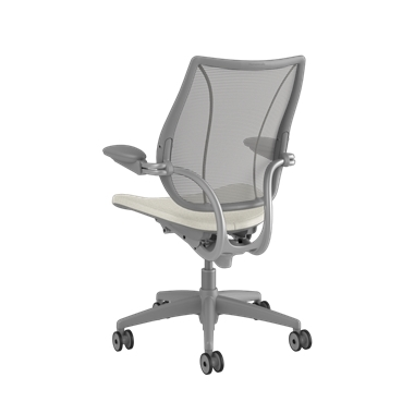 <p><span>Frame:</span> Silver With Silver Trim</p><p>Adjustable Duron Arms</p>  <p><span>Backrest:</span> Pinstripe/Silver</p>  <p><span>Seat:</span> Ticino (Chrome-Free Leather)/Glacier-White</p> Picture 3