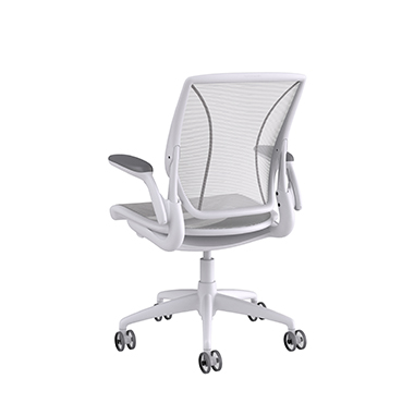 Diffrient World Chair Soft Bracking Casters, Pinstripe Back, Pinstripe Seat White Picture 3